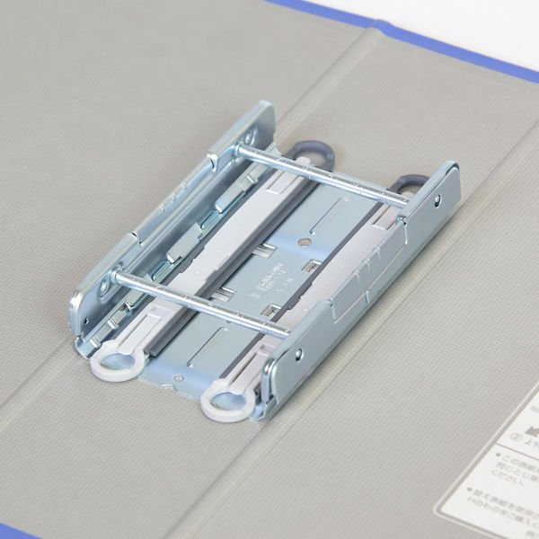キングファイル スーパードッチ 脱着イージー A4タテ とじ厚70mm 青 3冊 キングジム 両開きパイプファイル 2477Aアオ