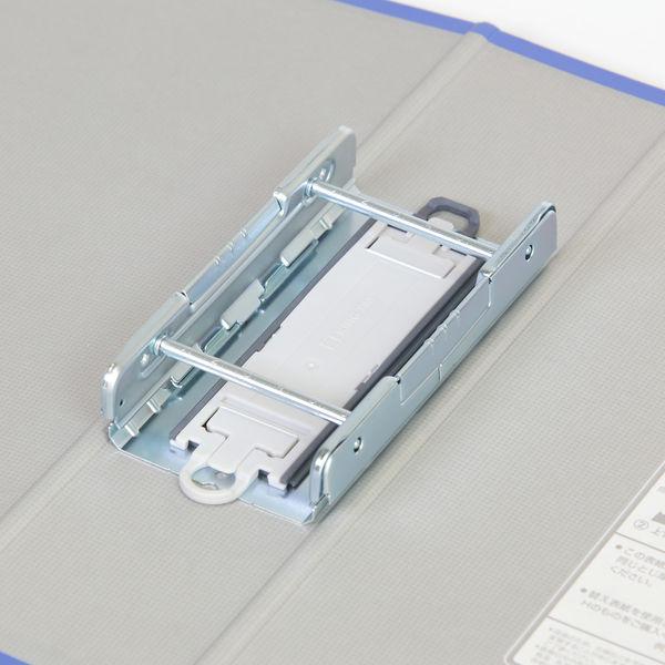 キングファイル スーパードッチ 脱着イージー A4タテ とじ厚60mm グレー 10冊 キングジム 両開きパイプファイル 2476Aクレ