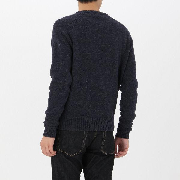 無印 再生ウール混丸首セーター 紳士 L