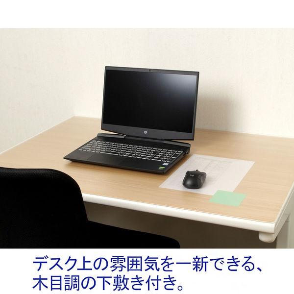 デザイン下敷き付デスクマット ミニ(600×450mm)ナチュラル木目 マット厚1.0mm 森松