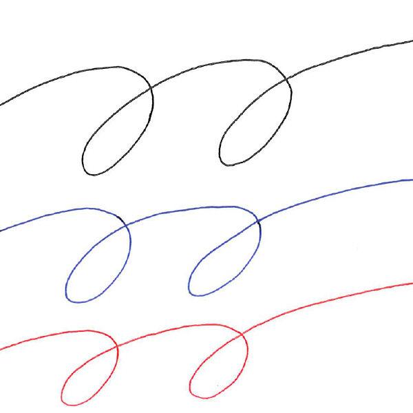 ゲルインク3色ボールペン サラサ 白軸