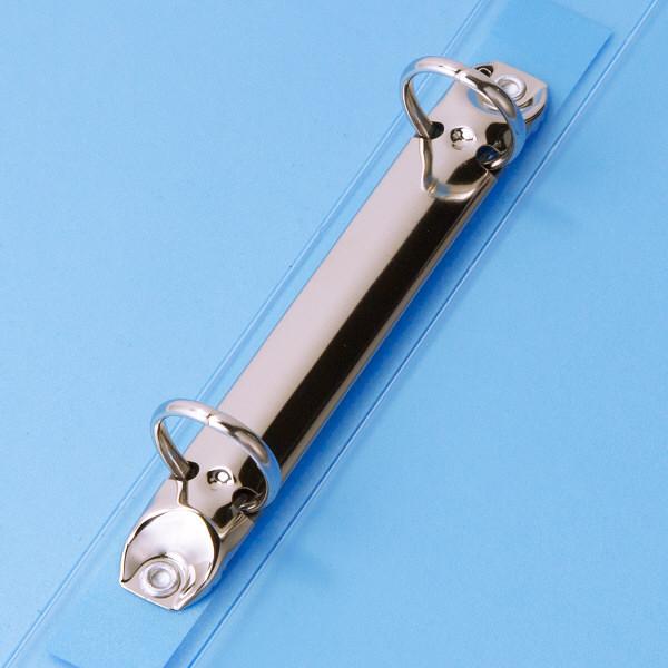 ハピラ リングファイル丸型2穴 A4タテ 背幅25mm 12冊 カラバリ ブルー