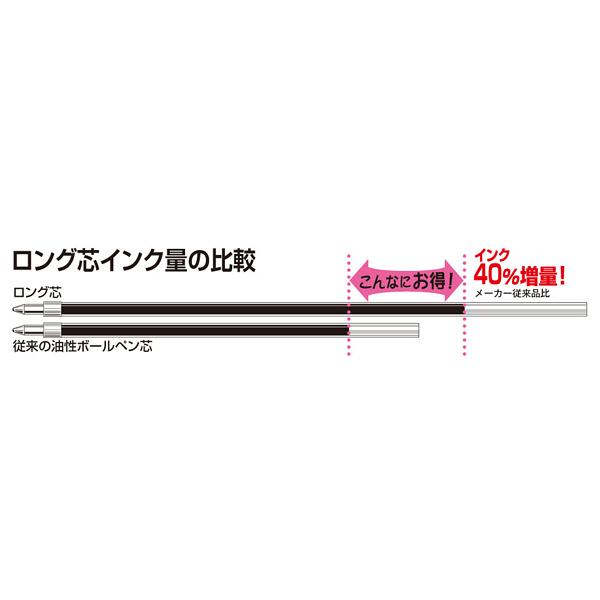 ノック式油性ボールペン エコタイプ3 0.7mm 赤 10本 アスクル