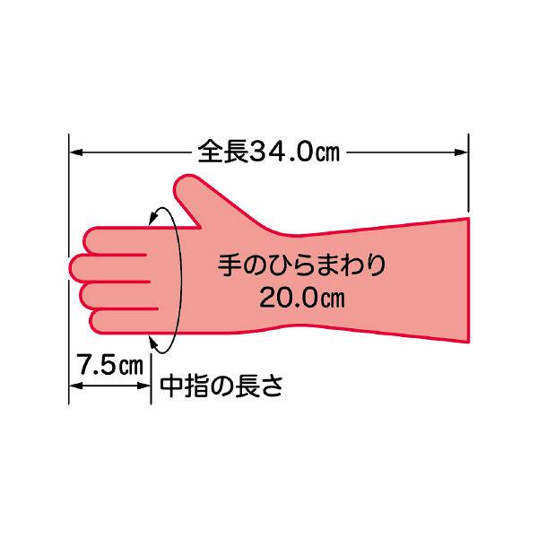ファミリーハンドフルールビニール手袋M赤