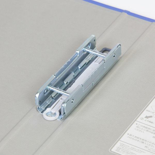 キングファイル スーパードッチ 脱着イージー A5ヨコ とじ厚30mm 青 キングジム 両開きパイプファイル 2443Aアオ