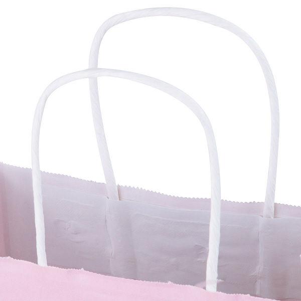 丸紐 手提げ紙袋 ピンク SS 50枚
