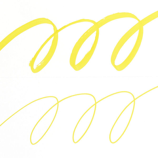 水性ペン プロッキー 太/細ツイン 黄
