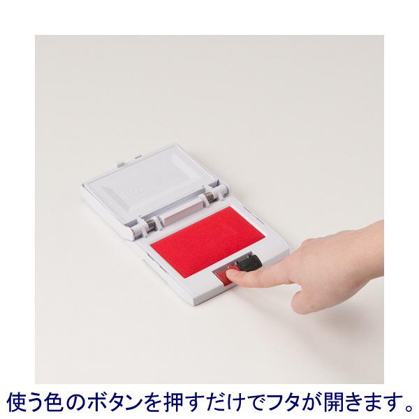 瞬乾2段式ワンタッチスタンプ台 黒/赤