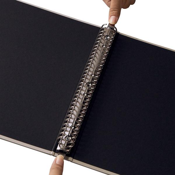 アスクル 布貼りリングファイル A4タテ 30穴 背幅34mm ベージュ