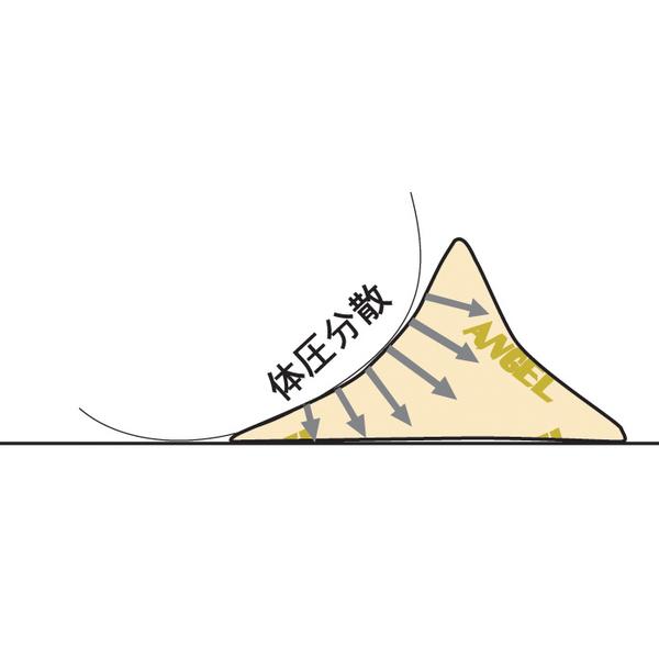 洗えるフィット三角柱クッションII ベージュ40cm 1312-40 日本エンゼル (直送品)