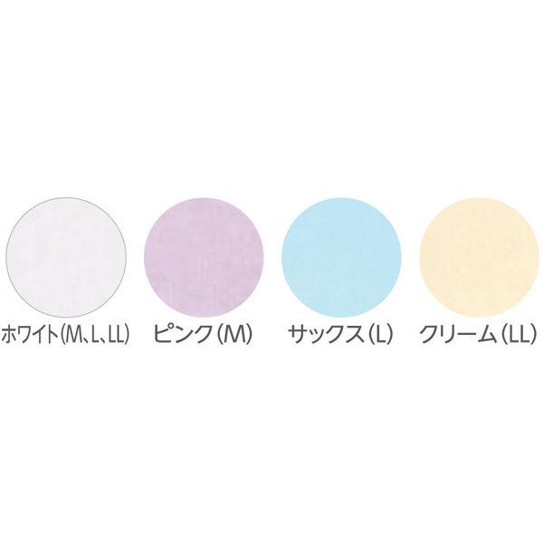 入浴介助エプロン(ひもタイプ) サックス M 6013 日本エンゼル (直送品)