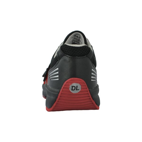 ドンケル R9209013307 先芯入スニーカー ダイナスティライト DLー23M黒/レッド 24.0cm 1足 (直送品)