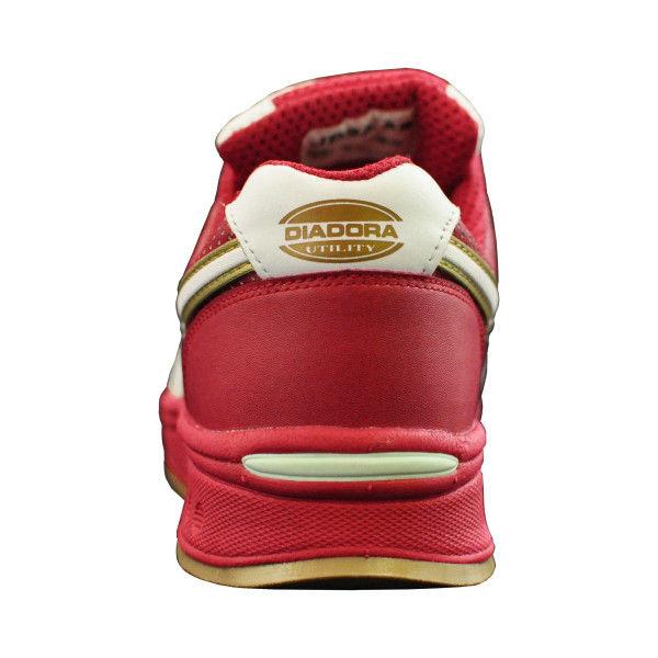 ドンケル R209014806 ディアドラ安全作業靴 ピーコック PCー31赤&ホワイト 23.5cm 1足 (直送品)