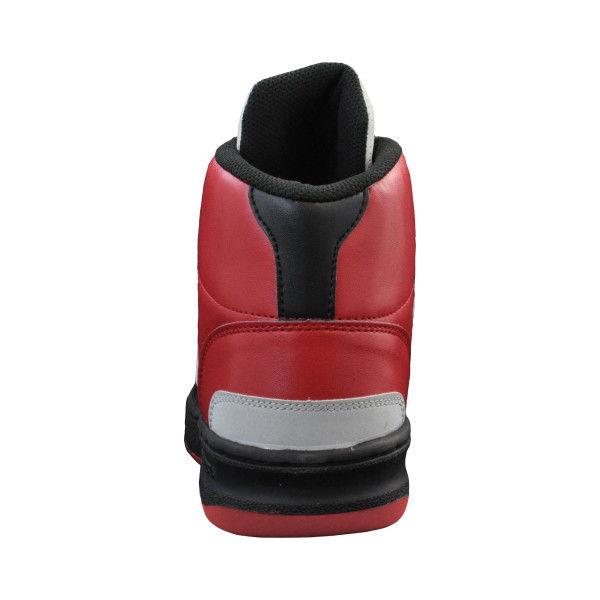 ドンケル R209014914 ディアドラ安全作業靴 エミュー EMー213黒&ホワイト&レッド 27.5cm 1足 (直送品)