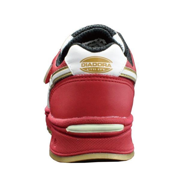 ドンケル R209016209 ディアドラ安全作業靴 ロビン RBー213黒&ホワイト&レッド 25.0cm 1足 (直送品)