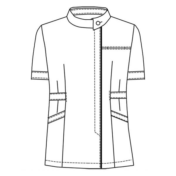 オンワード レディスジャケット(ナースジャケット) ロールカラー BR1056 ラベンダー×オフホワイト LL