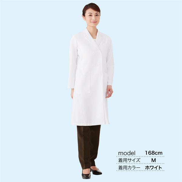 オンワード 白衣 レディスドクターコート(ダブル 診察衣) CO-6004 ホワイト LL (取寄品)