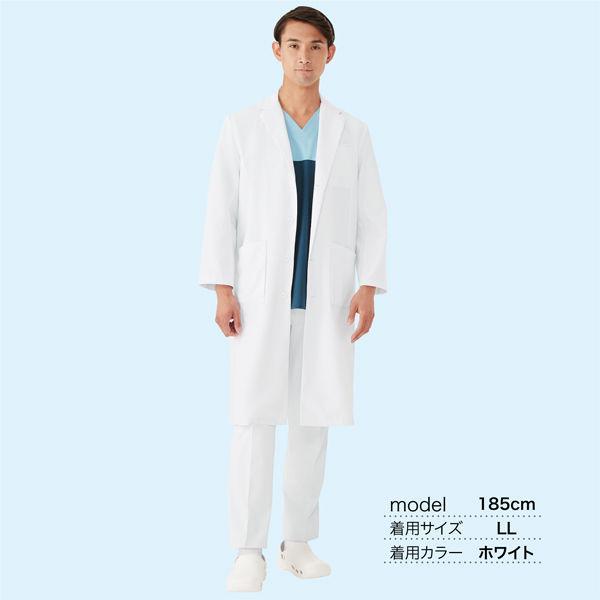 オンワード 白衣 メンズドクターコート(シングル 診察衣) CO-6005 ホワイト S (取寄品)