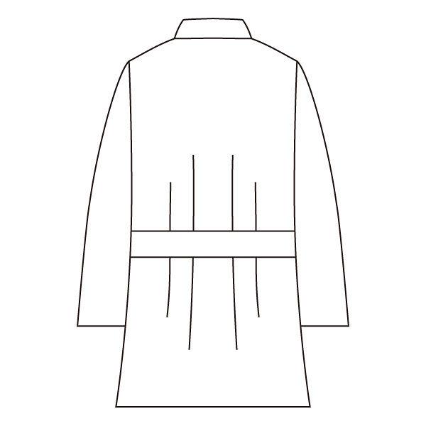 住商モンブラン メンズケーシー(8分袖 医務衣) グレー L 72-715 (直送品)