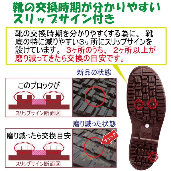 ミドリ安全 2130004003 耐滑抗菌長靴ハイグリップ HG2000Nスーパー白 22.0cm 1足 (直送品)