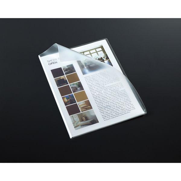 コクヨ(KOKUYO) クリヤーホルダーストロングタイプ・マチ付 A4 透明 フ-TSW750T 1枚 (直送品)