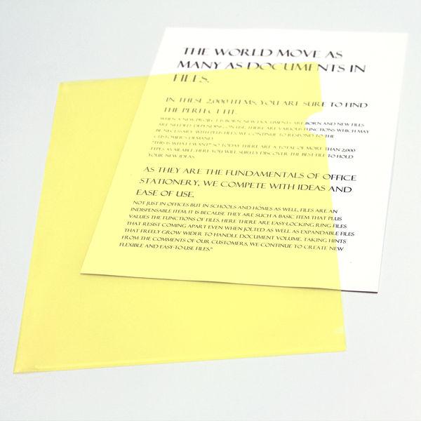 クリアホルダー A4 10枚 黄
