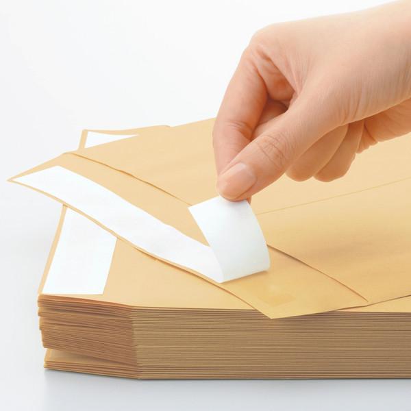 アスクル オリジナルクラフト封筒 テープ付 長4〒枠あり 3000枚(100枚×30袋)