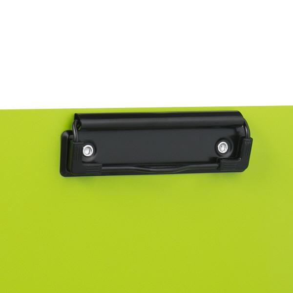 PP製クリップファイル A4タテ 二つ折り A4タテ 10冊 ライトグリーン セリオ
