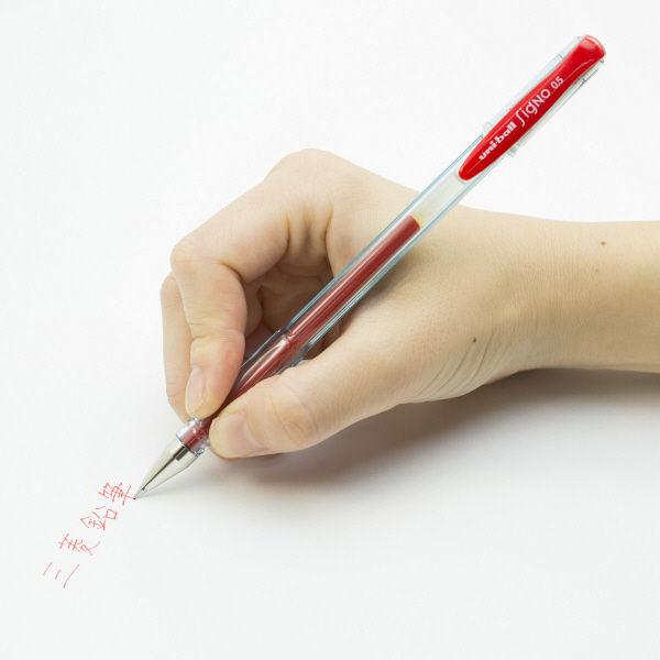 三菱鉛筆(uni) ゲルインクボールペン ユニボールシグノ(エコライター) 0.5mm 赤インク UM100EW.15