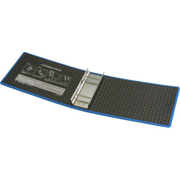 ハピラ 片開きパイプ式ファイル A5ヨコ 青 1箱(10冊入)