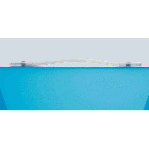 キングジム シンプリーズ キャリングケース(グリップ付) 透明 A4奥行73mm 294TSPWトウ 1セット(3冊:1冊×3)