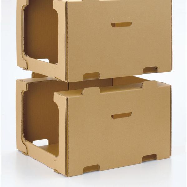 レンゴー 「現場のチカラ」 スタッキング収納箱大 1セット(50個:5個入×10梱包)