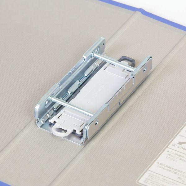 キングファイル スーパードッチ 脱着イージー A4タテ とじ厚50mm グレー 10冊 キングジム 両開きパイプファイル 2475Aクレ