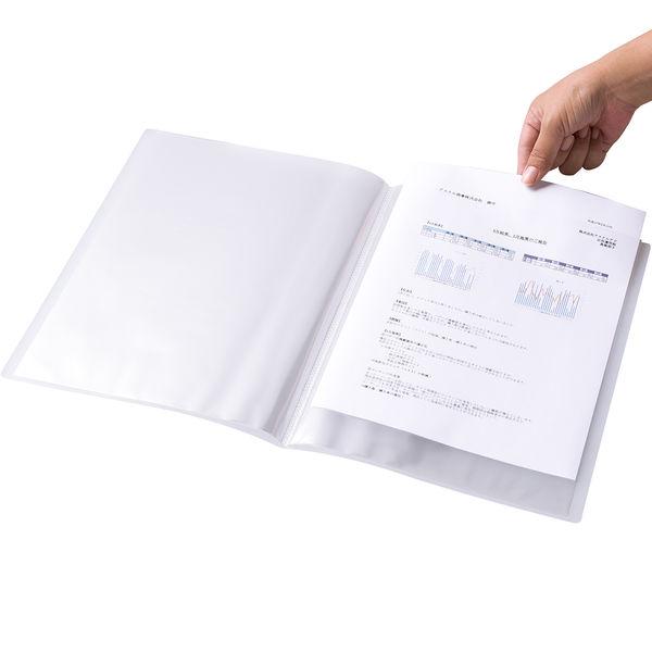 クリアファイル透明 A4縦20P クリア