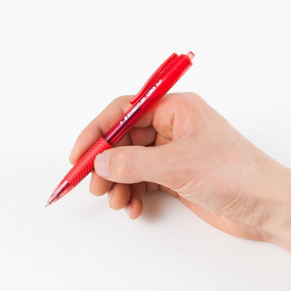 ノック式油性ボールペン ルナ 赤