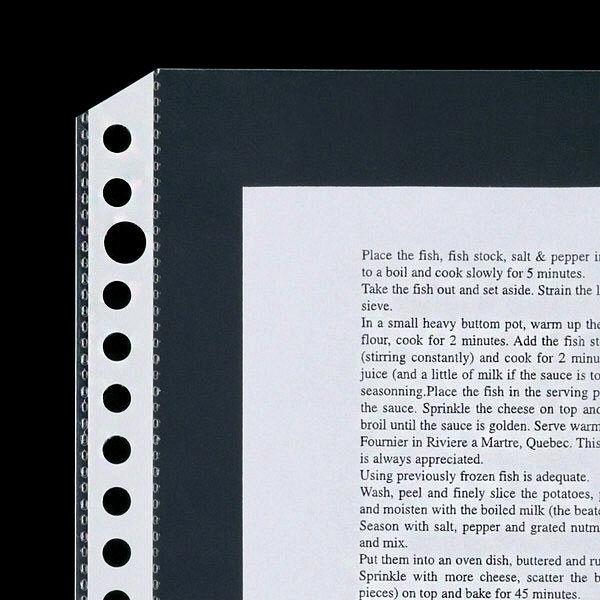 30穴ファイル用ポケット A4タテ 丈夫な穴で20枚収容 アスクル 1セット(60枚)