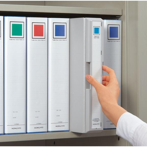 コクヨ 取っ手付きチューブファイル A4タテ シルバー 800枚 フ-UT1680C