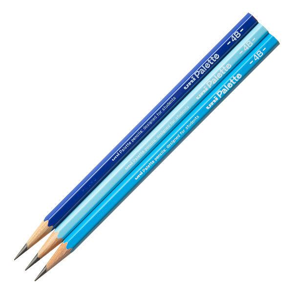 鉛筆 4B ユニパレット 1ダース 青