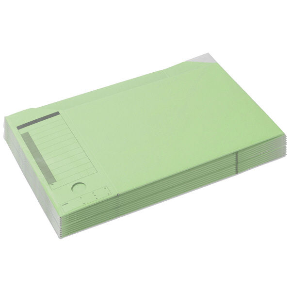 ボックスファイル A4横 緑 50冊
