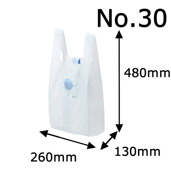 レジ袋 乳白 No.30 6000枚