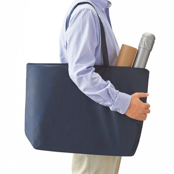 不織布手提げ袋 ブルー 大 50枚