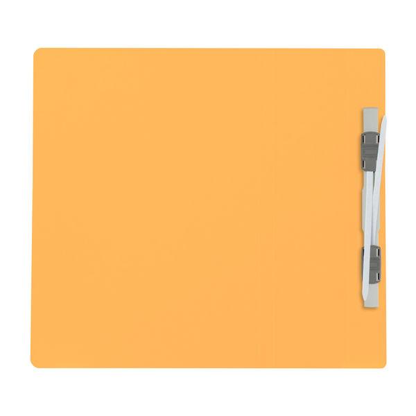 プラス フラットファイル厚とじ500 A5タテ イエロー 87567 1袋(10冊入)