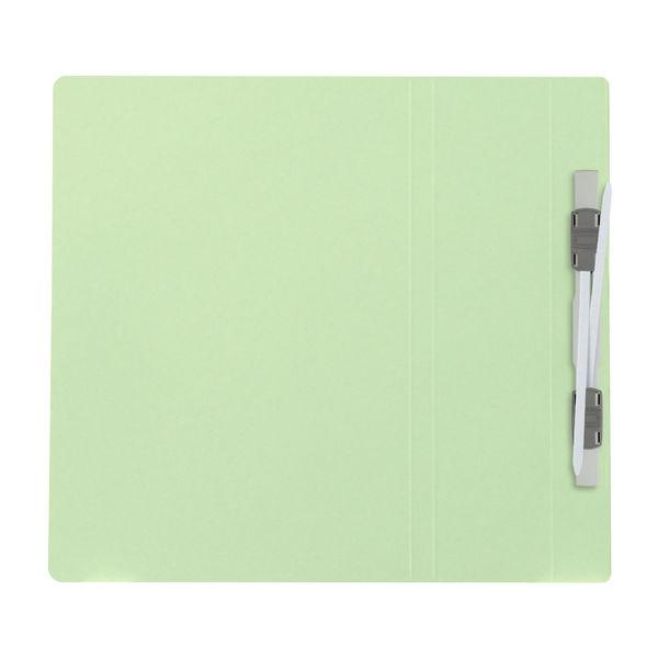 プラス フラットファイル厚とじ500 A5タテ グリーン 87566 1袋(10冊入)