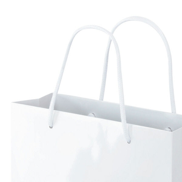 丸紐 手提げ紙袋 ホワイト M 90枚