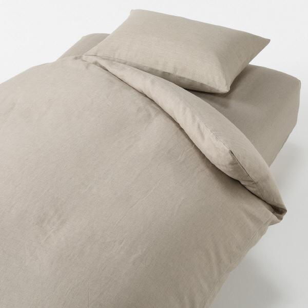 ... 麻平織掛ふとんカバー シングル・生成 18198450 無印良品