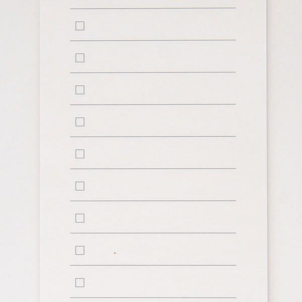 短冊型メモ チェックリスト