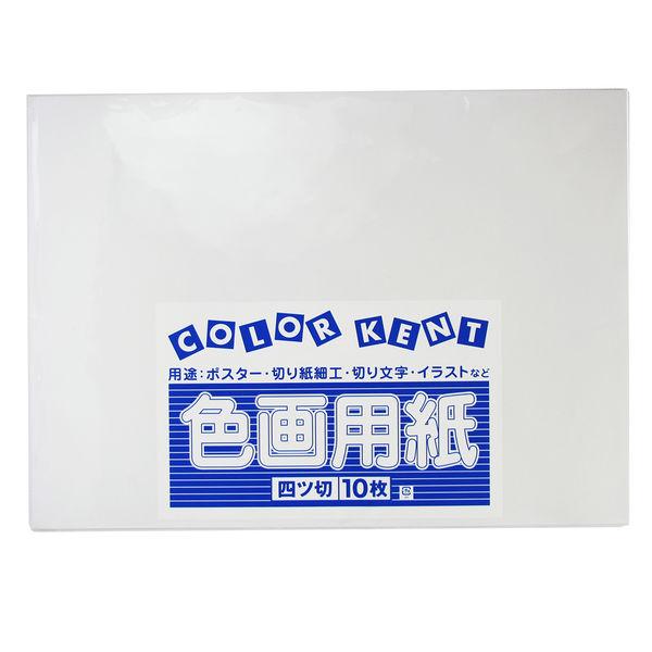 大王製紙 色画用紙 四切 ゆき A-49 1セット(50枚:10枚入×5)