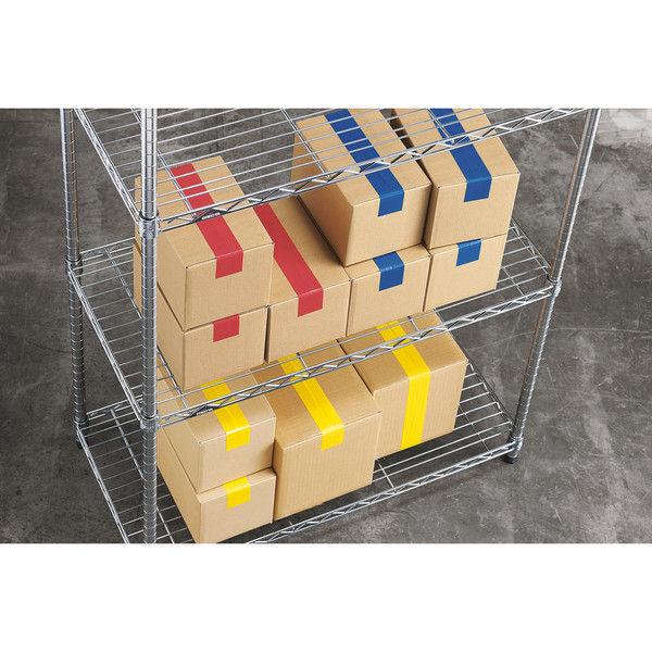 「現場のチカラ」 カラー布テープ No.8015 0.20mm厚 50mm×25m巻 赤 1箱(30巻入) アスクル