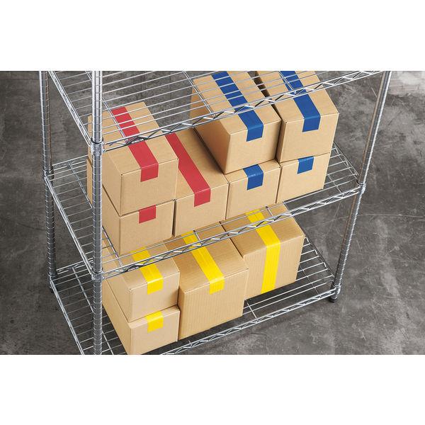 「現場のチカラ」 カラー布テープ No.8015 0.20mm厚 50mm×25m巻 白 1箱(30巻入) アスクル