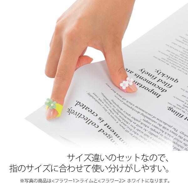 プラス 紙めくり メクリッコSWEET フラワー2 L 35908 1セット(30個:3個入×10パック)